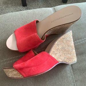 Diane von Furstenberg Red Wedges
